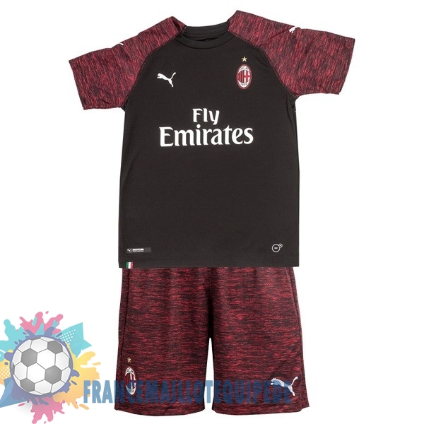 Magasin De Foot PUMA Third Ensemble Enfant AC Milan 2018-2019 Noir