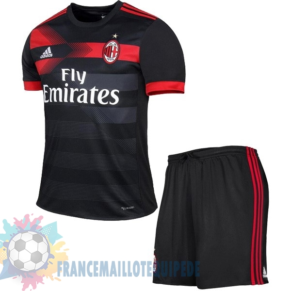 Magasin De Foot adidas Third Ensemble Enfant AC Milan 2017 2018 Noir