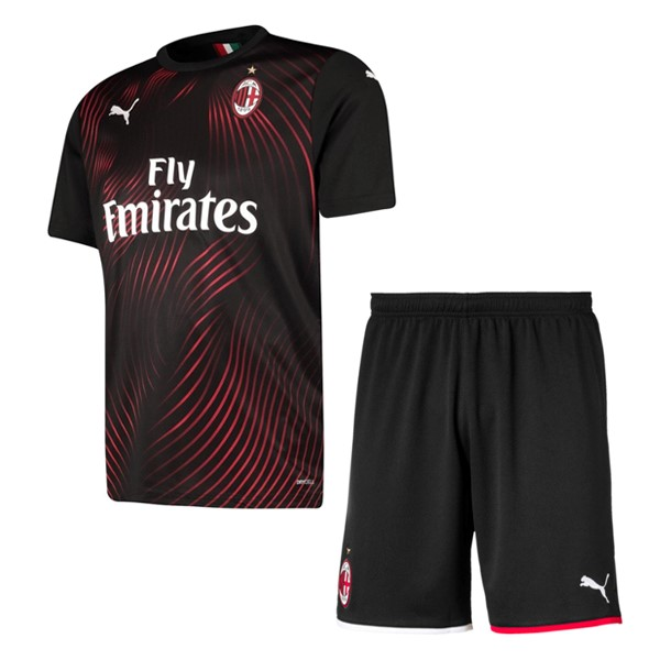 Magasin De Foot PUMA Third Ensemble Enfant AC Milan 2019 2020 Rouge Noir