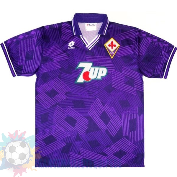 Magasin De Foot Lotto Domicile Maillot Fiorentina Rétro 1992 1993 Purpura