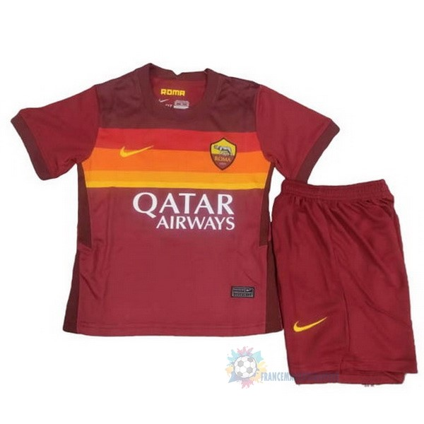 Magasin De Foot Nike Domicile Conjunto De Enfant AS Roma 2020 2021 Rouge