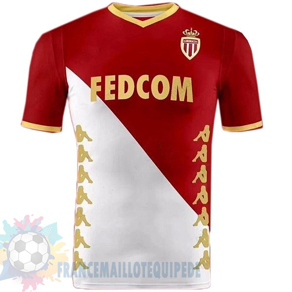 Magasin De Foot Kappa DomiChili Maillot As Monaco 2019 2020 Rouge Blanc
