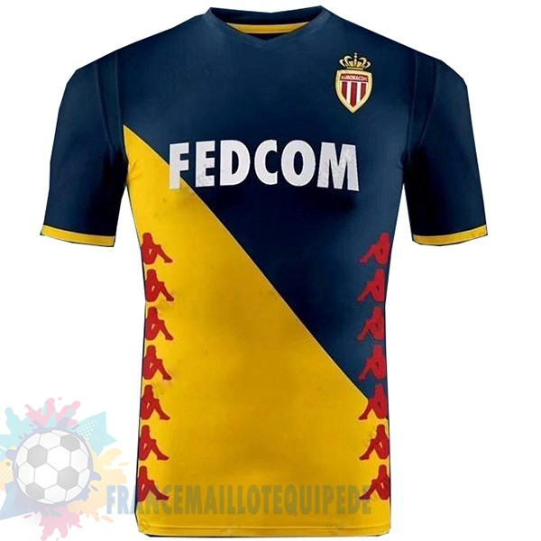 Magasin De Foot Kappa Exterieur Maillot As Monaco 2019 2020 Jaune