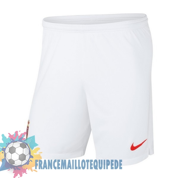 Magasin De Foot Nike Domicile Shorts AS Monaco 2018-2019 Blanc