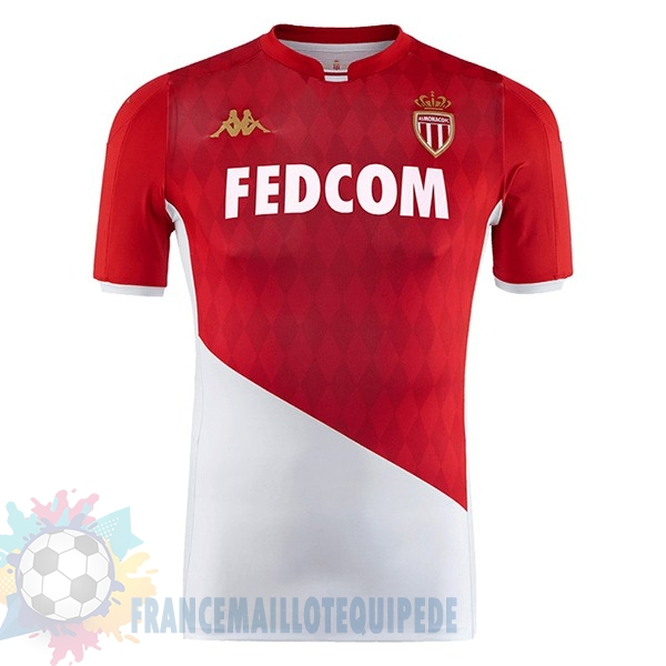 Magasin De Foot Kappa Domicile Maillot AS Monaco 2019 2020 Rouge Blanc