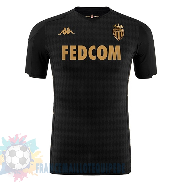 Magasin De Foot Kappa Exterieur Maillot AS Monaco 2019 2020 Noir