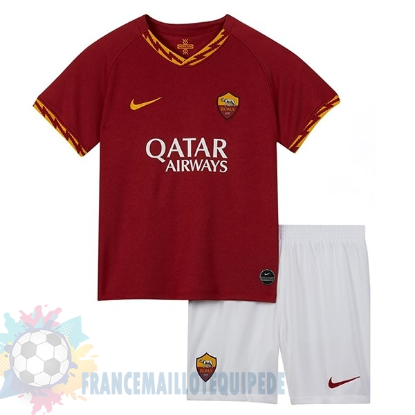 Magasin De Foot Nike Domicile Ensemble Enfant AS Roma 2019 2020 Rouge