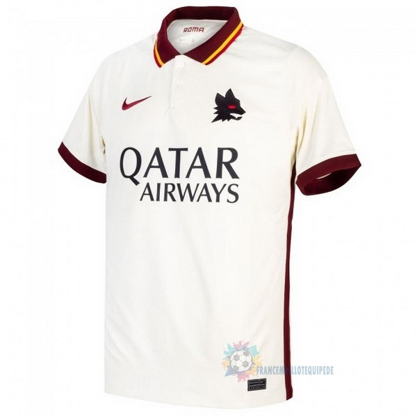 Magasin De Foot Nike Exterieur Maillot As Roma 2020 2021 Blanc