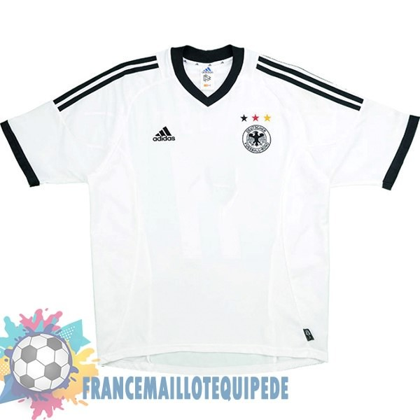 Magasin De Foot Adidas DomiChili Maillot Allemagne Vintage 2002 Blanc