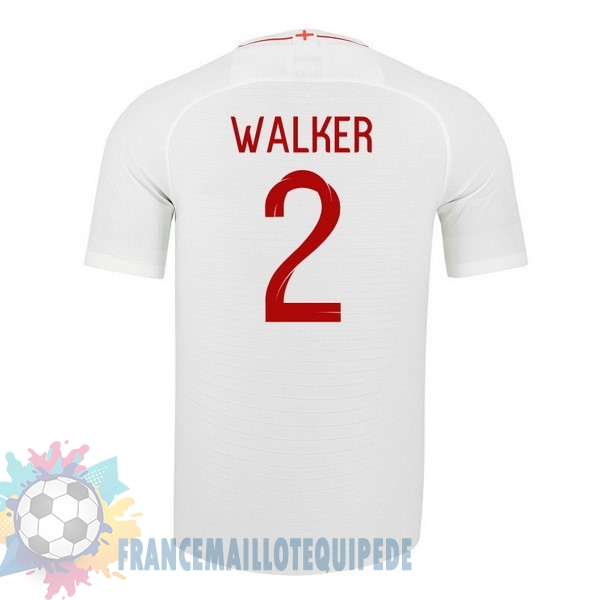 Magasin De Foot Nike NO.2 Walker Domicile Maillots Angleterre 2018 Blanc