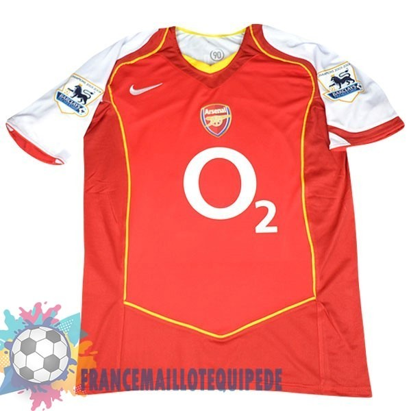 Magasin De Foot Nike DomiChili Maillot Arsenal Vintage 2004 2005 Rouge