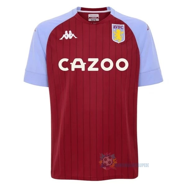 Magasin De Foot Kappa Domicile Maillot Aston Villa 2020 2021 Rouge