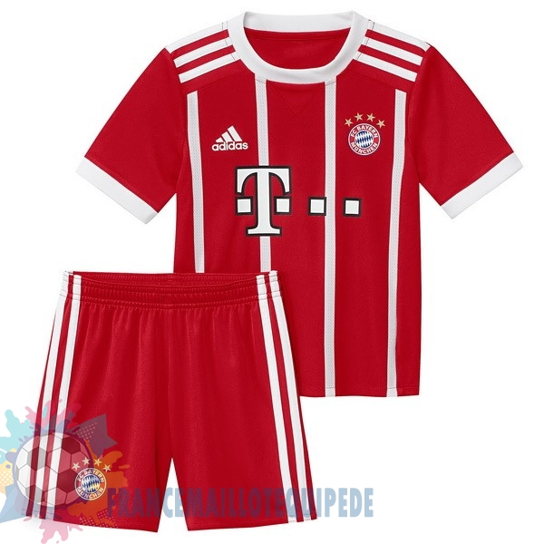 Magasin De Foot adidas Domicile Ensemble Enfant Bayern Munich 2017 2018 Rouge