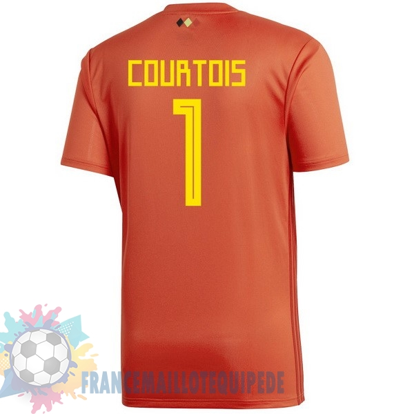 Magasin De Foot adidas NO.1 Courtois Domicile Maillots Belgica 2018 Rouge