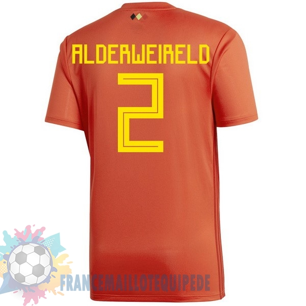 Magasin De Foot adidas NO.2 Alderweireld Domicile Maillots Belgica 2018 Rouge