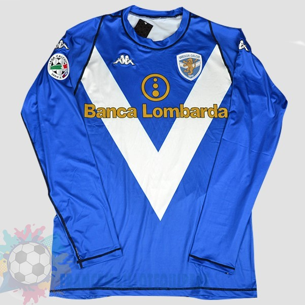 Magasin De Foot Kappa DomiChili Manches Longues Maillot Brescia Football Vintage 2003 2004 Bleu