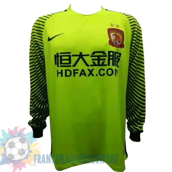 Magasin De Foot Nike Maillots Manches Longues Gardien Evergrande 2017 2018 Vert