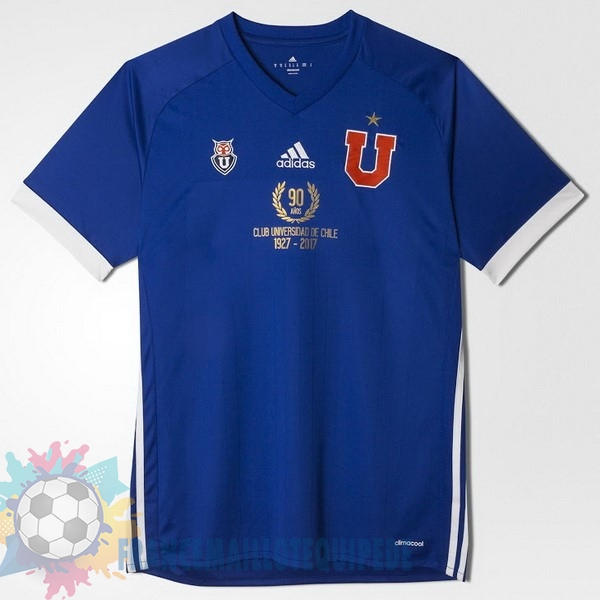 Magasin De Foot adidas Domicile 90th Maillots Universidad De Chile 1927 2017 Bleu