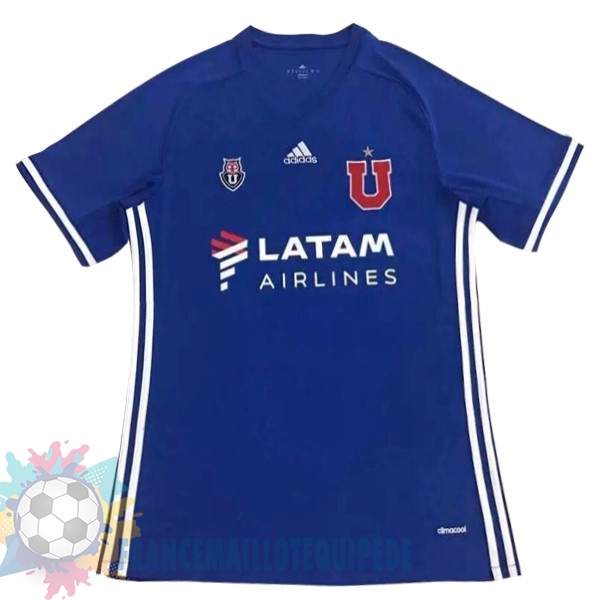 Magasin De Foot adidas Domicile LATAM Maillots Universidad De Chile 2017 2018 Bleu