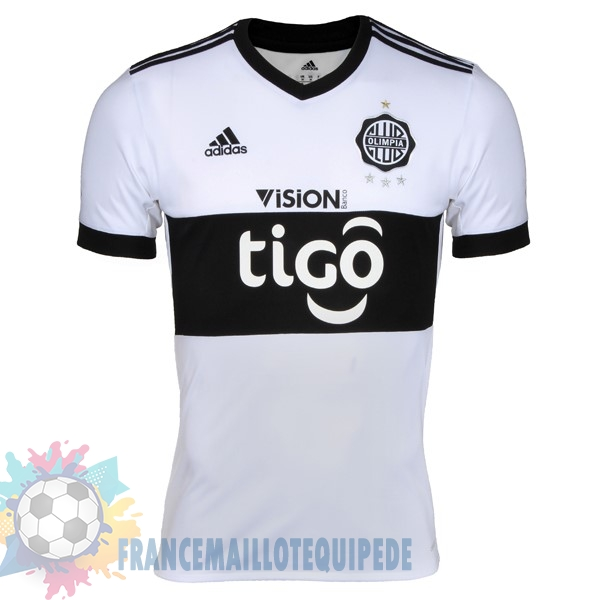 Magasin De Foot adidas Domicile Maillots Club Olimpia 2017 2018 Blanc