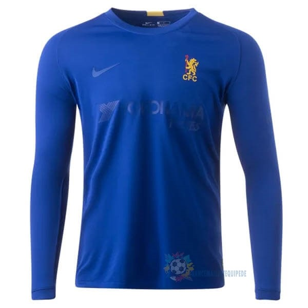 Magasin De Foot Nike Manches Longues Maillot Chelsea 50th Bleu