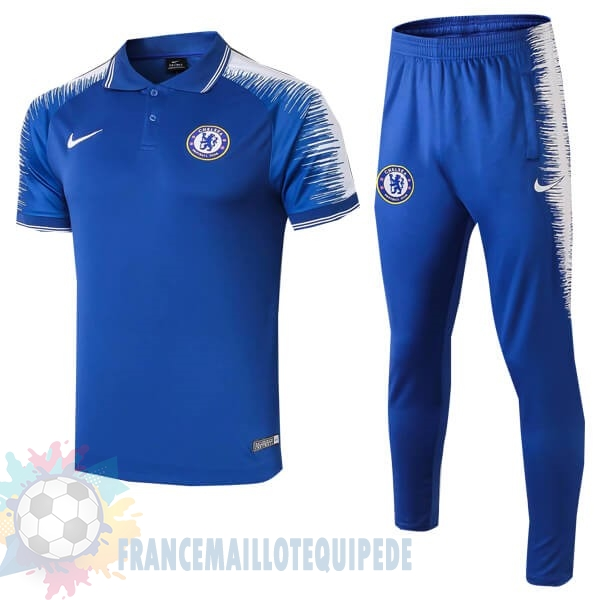Magasin De Foot Nike Ensemble Polo Chelsea 2018 2019 Bleu