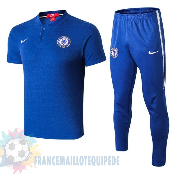Magasin De Foot Nike Ensemble Polo Chelsea 2018 2019 Bleu Blanc