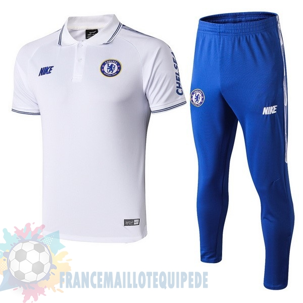 Magasin De Foot Nike Ensemble Polo Chelsea 2019 2020 Blanc Bleu