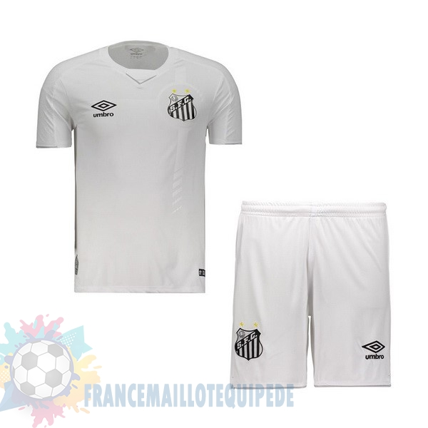 Magasin De Foot umbro Domicile Ensemble Enfant Santos 2019 2020 Blanc