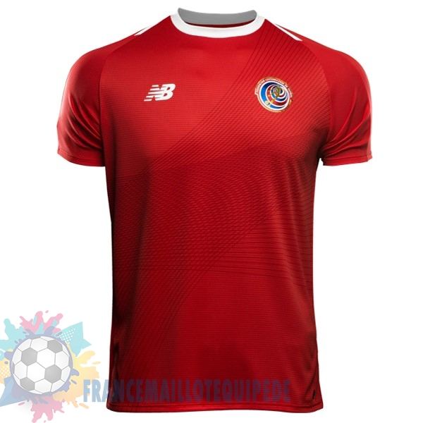 Magasin De Foot New Balance Domicile Maillots Costa Rica 2018 Rouge