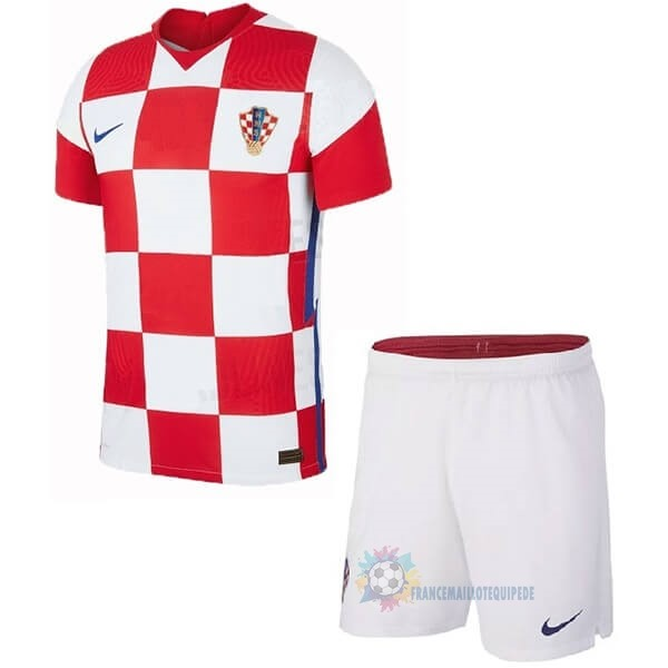 Magasin De Foot Nike Domicile Ensemble Enfant Croatie 2020 Rouge