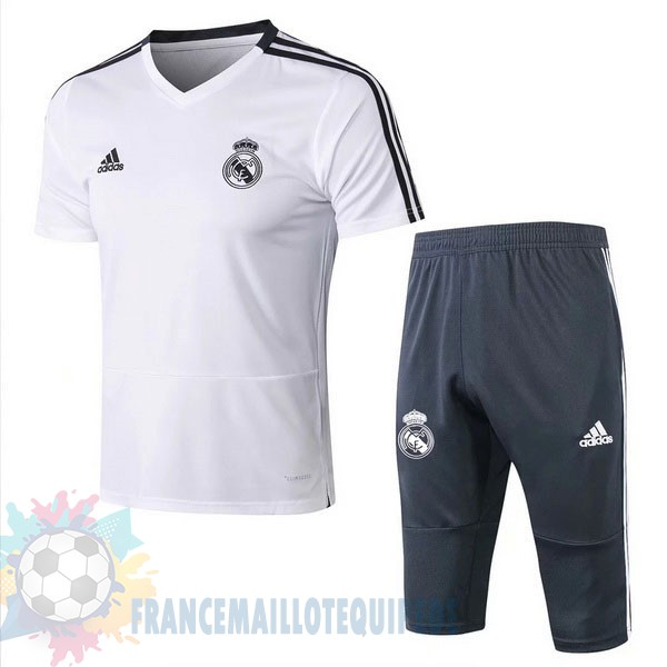 Magasin De Foot Adidas Entrainement Set Completo Real Madrid 2019 2020 Blanc