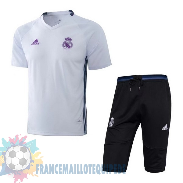 Magasin De Foot adidas Entrainement Ensemble Real Madrid 2017 2018 Blanc