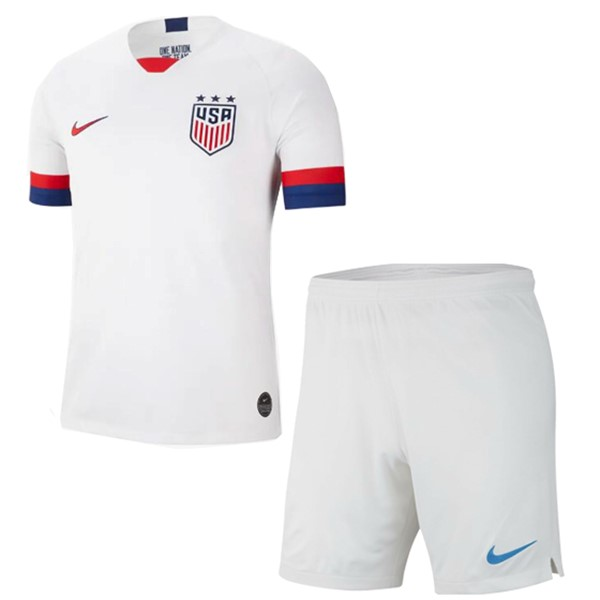 Magasin De Foot Nike Domicile Ensemble Enfant Estados Unidos 2019 Blanc