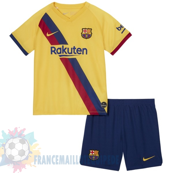 Magasin De Foot Nike Exterieur Ensemble Enfant Barcelona 2019 2020 Jaune