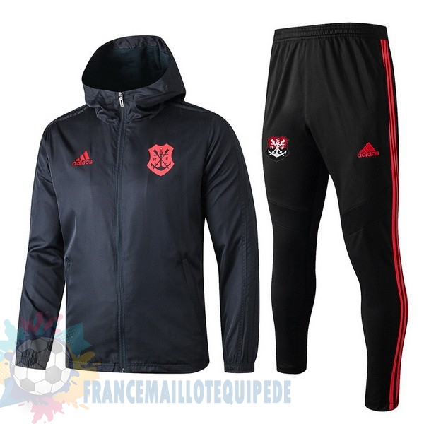 Magasin De Foot adidas Ensemble Coupe Vent Flamengo 2019 2020 Noir Rouge