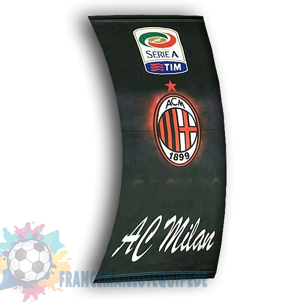 Magasin De Foot Football Drapeau de AC Milan Noir