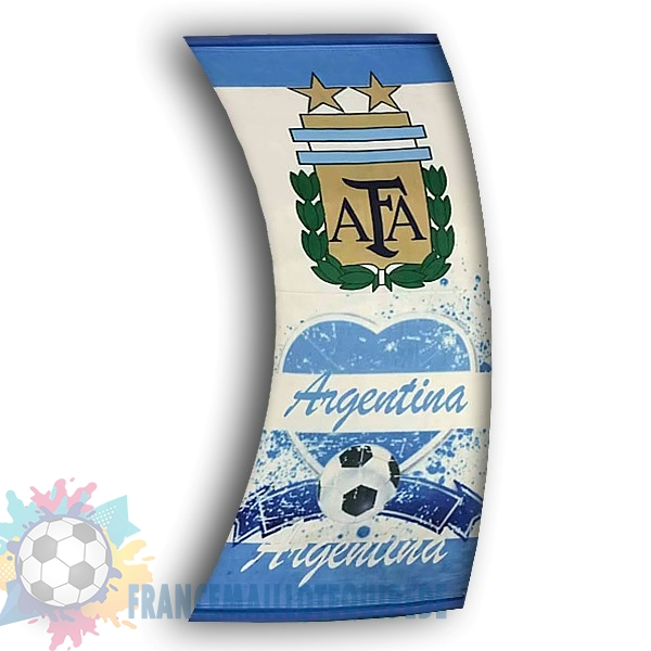 Magasin De Foot Football Drapeau de Argentine Blanc