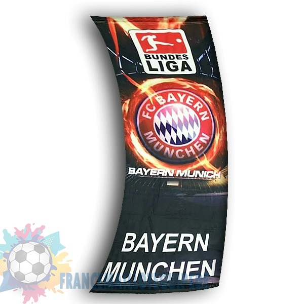 Magasin De Foot Football Drapeau de Bayern Munich Noir