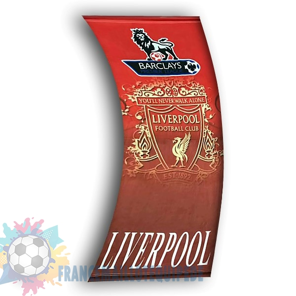 Magasin De Foot Football Drapeau de Liverpool Rouge