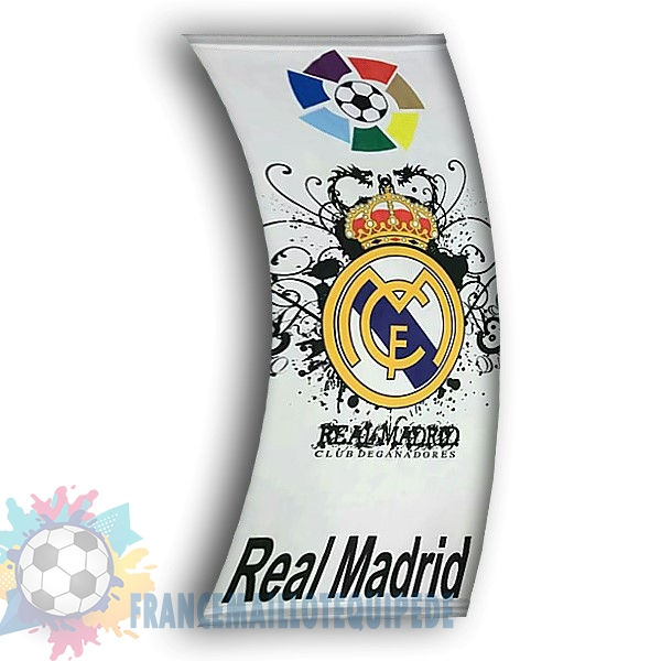 Magasin De Foot Football Drapeau de Real Madrid Blanc