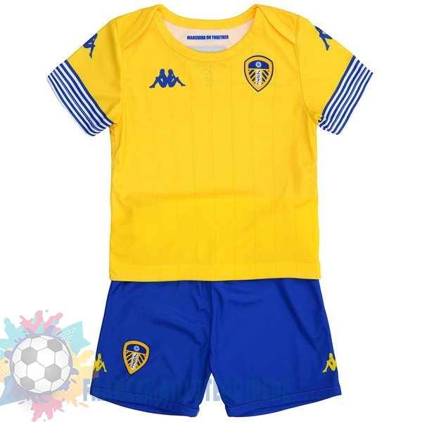Magasin De Foot Kappa Third Maillots Ensemble Enfant Leeds United 18-19 Jaune