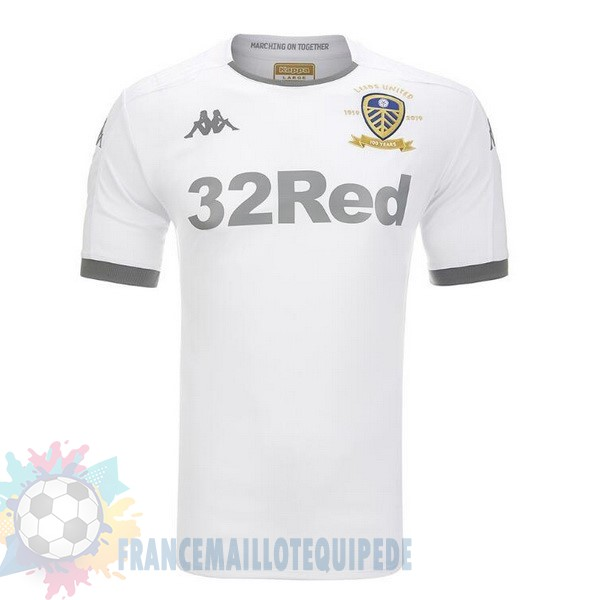 Magasin De Foot Kappa Domicile Maillot Leeds United 2019 2020 Blanc