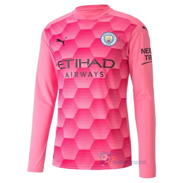 Magasin De Foot PUMA Third Manches Longues Gardien Manchester City 2020 2021 Rose