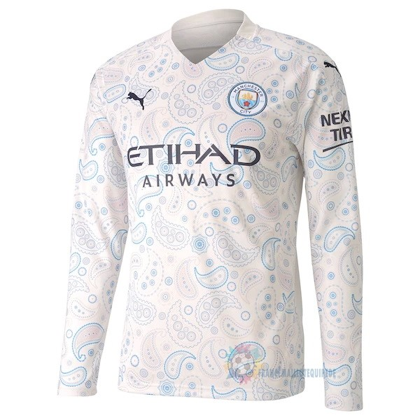 Magasin De Foot PUMA Third Manches Longues Manchester City 2020 2021 Blanc