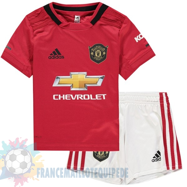 Magasin De Foot adidas Domicile Ensemble Enfant Manchester United 2019 2020 Rouge
