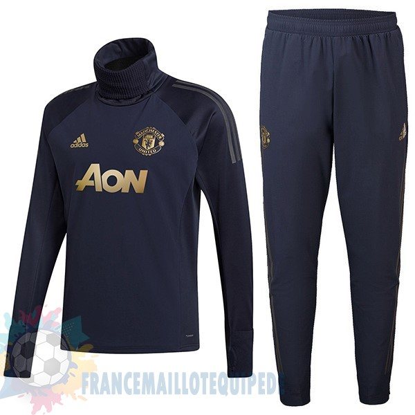 Magasin De Foot Adidas Survêtements Enfant Manchester United 2018 2019 Bleu Or