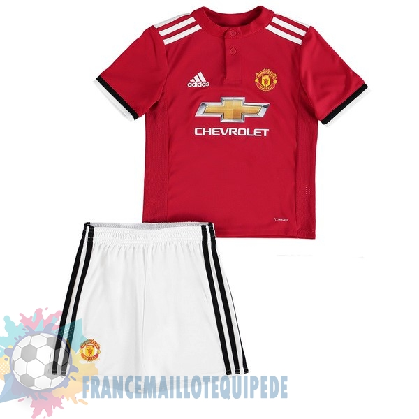 Magasin De Foot adidas Domicile Ensemble Enfant Manchester United 2017 2018 Blanc Rouge