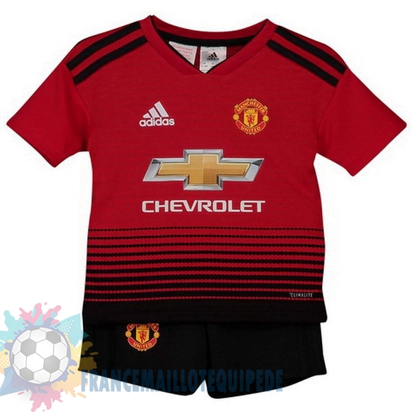 Magasin De Foot adidas Domicile Ensemble Enfant Manchester United 2018 2019 Rouge