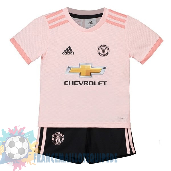 Magasin De Foot adidas Exterieur Ensemble Enfant Manchester United 2018-2019 Rose